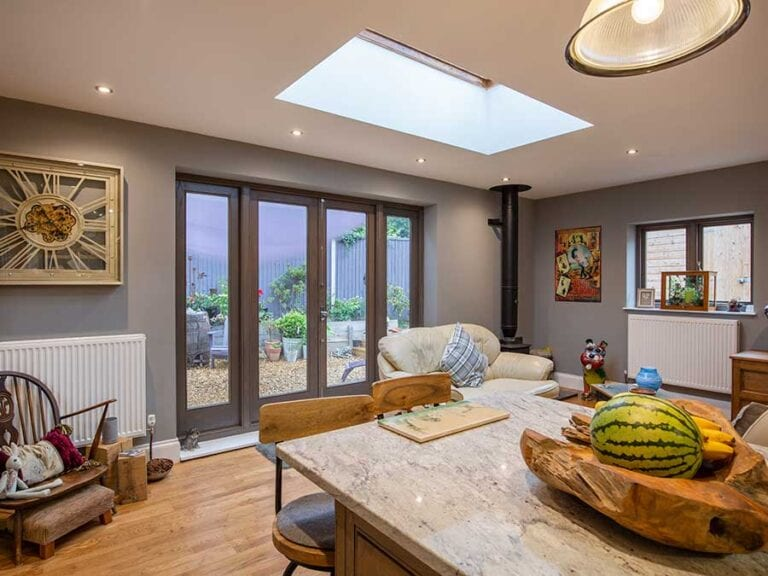 Cottage living space extension in South Norfolk