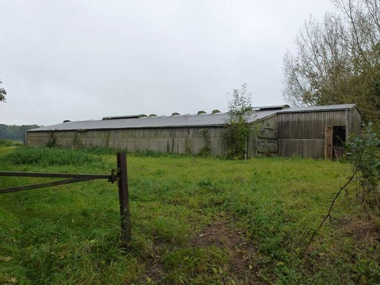 Before the barn conversion for two dwellings in Norfolk