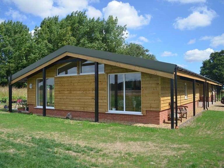 Final design of barn conversion in Norfolk.