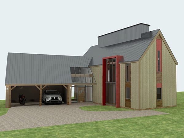 Planning for sustainable new build, Hoxne, Suffolk