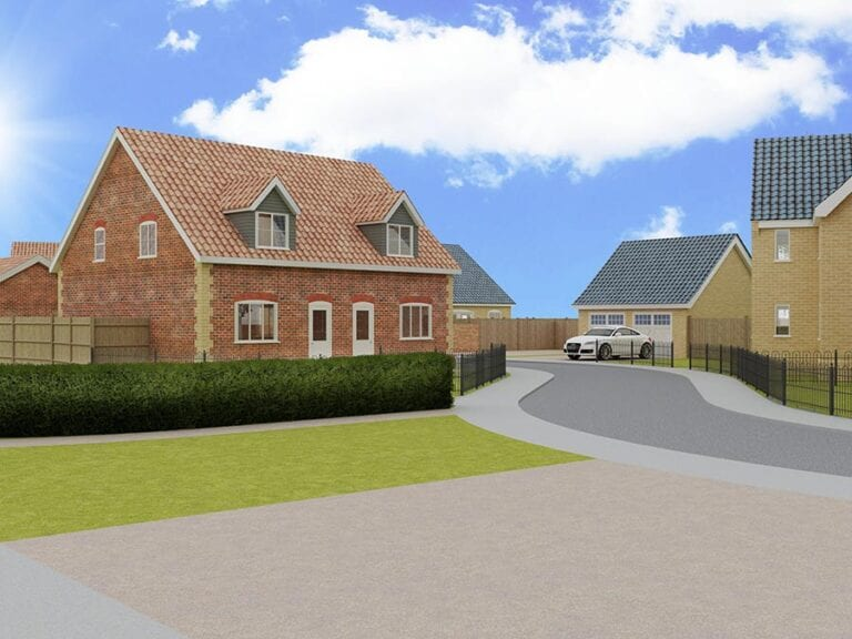 selection of houses in new development Norfolk