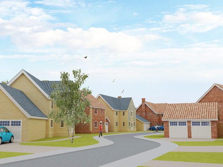 New development of mixed housing norfolk