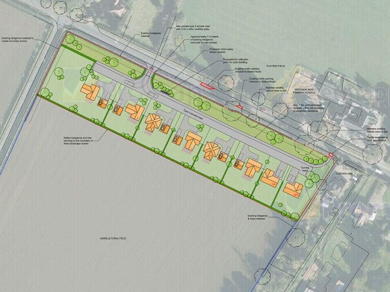 station-road-spooner-row-site-plan